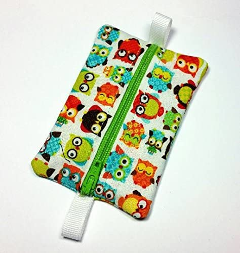 Ear Bud Pouch Earbud Holder Zip Pouch Mini Zip Pouch Jump Drive Holder Tiny Owls product image