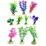 10 Pack Artificial Aquarium Plastic Plants, CBTONE...