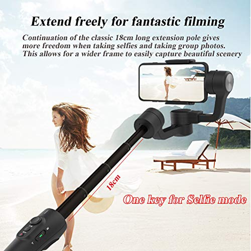 FeiyuTech Vimble 2S (Vimble 2 Updated) Smartphone Gimbal Stabilizer for iPhone 11 X XR XS 8 7 Plus, Samsung S10+ A50 Note 9, Huawei P30 P20 P9 Mate 10, Redmi, One Plus, Sjcam, Yi 4K Camera w/Tripod