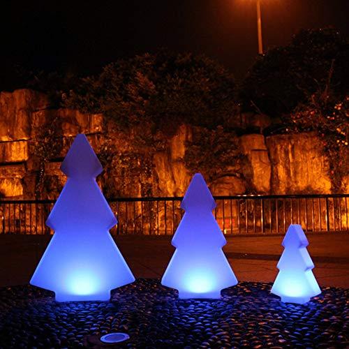 Veilleuses Lumières De Nuit d'arbre De Noël De LED, 16 Couleurs RVB Et Lumières De Commande À Distance, Patio Extérieur Charge Imperméable À l'eau des Lumières De Vacances. (28 * 15 * 50Cm)