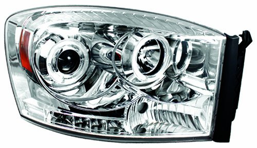 Where To Buy Ipcw Cws 422c2 Dodge Ram Pickup Chrome Projector Head Lamp With Rings Pair
