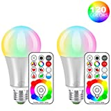 iLC LED Farbige Leuchtmittel RGB+Weiß Lampe Edison Dimmbare Farbige -