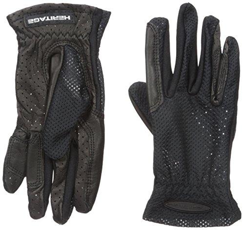 Heritage Pro-Flow Summer Show Gloves, Size 8, Black