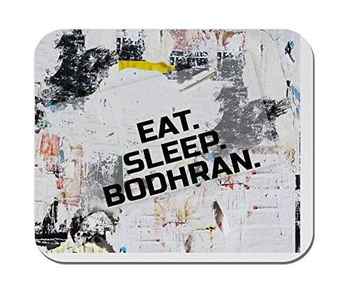 Makoroni - EAT Sleep Bodhran Music Musician - Non-Slip Rubber - Computer, Gaming, Office Mousepad