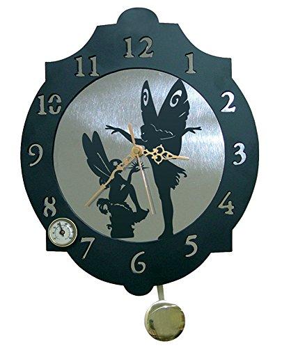 IMEX EL ZORRO El Zorro 11369-Reloj Hadas, 374 x 312 mm, Metal, Gris, 40x34x7 cm