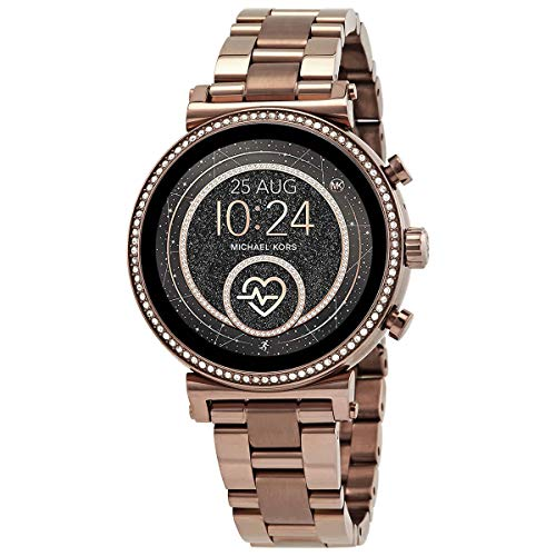 Michael Kors Access Touchscreen Smartwatch- Sofie Heart Rate Sable Stainless Steel