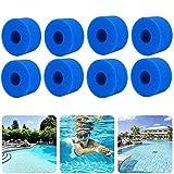 Hoimlm Esponjas filtrantes para Intex Tipo S1, para filtros balneo Lazy Spa, espuma para filtro de piscina, filtro de piscina, lavable, reutilizable, para filtro de jacuzzi (8 unidades)