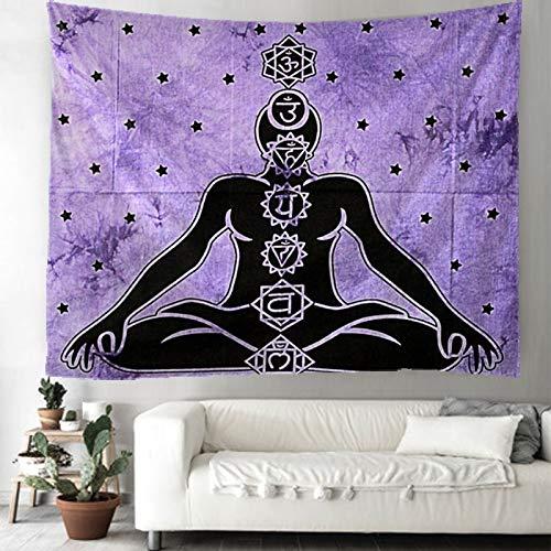 PPOU Tapiz de Buda Mandala Tapiz de Pared Hippie brujería decoración del hogar Manta Tapiz Tapiz A3 100x150cm