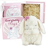 Everybunny Prays- Baby and Toddler Gift Set with Praying Musical Bunny and Prayer Book in Keepsake Box for Girls