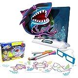 6 Year Old Girl Gifts 2021 Fluorescent 3D drawing board magic luminous three-dimensional writing board graffiti board light board small gifts (2)