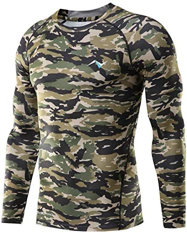 Nooz Men s Cool Dry Compression Baselayer Long Sleeve T Shirts Army Camo Medium product image