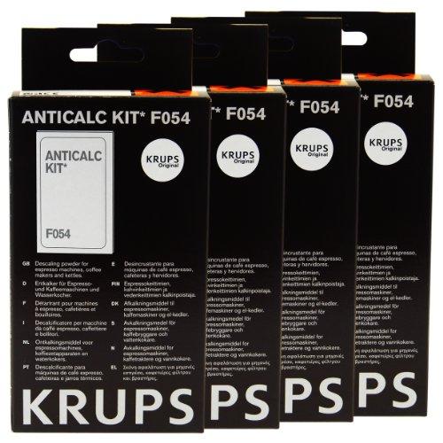 Krups Anticalc Kit* F054 Entkalker, Kalkreiniger, Kalkentferner, 4er Pack