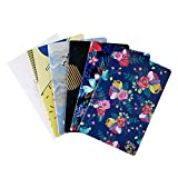 6 Pack Notebook Journals Bulk for Travelers, Class and Office, Diary Writing Subject Memo Book Planner with Lined Paper, College Ruled, 60 Pages/ 30 Sheets, 5.5x8.3 inch, Travel Note Book Set