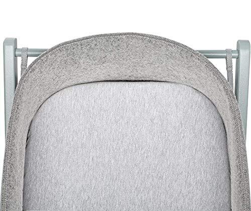 moKee WoolNest Fitted Sheet, Melange Grey