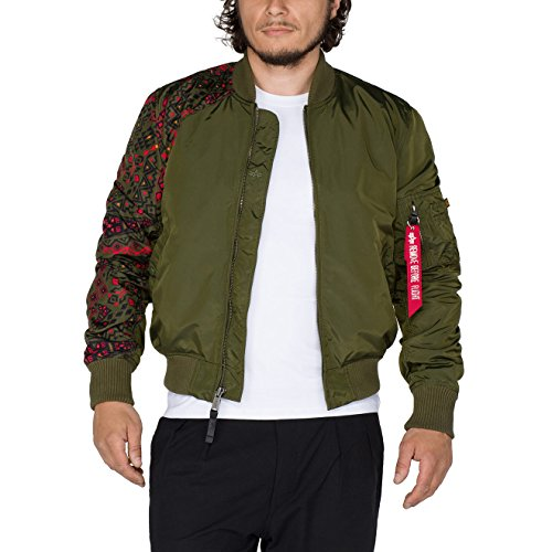 Alpha Industries Herren Jacken / Bomberjacke MA-1 TT Tattoo, Grün, Small