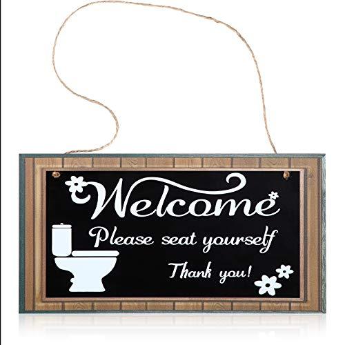 Cartel de Decoración de Baño Divertido Welcome Please Seat
