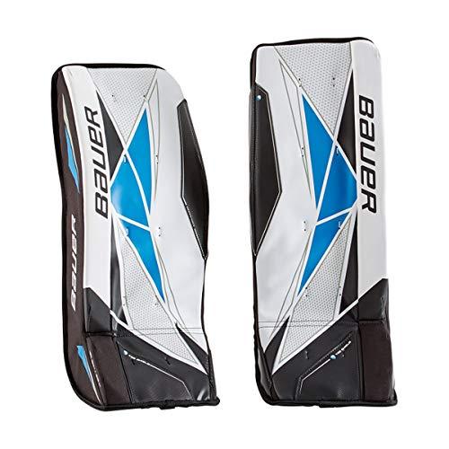 Bauer Schienen Street Inlinehockey Junior S19 / Leichte Schaumstoff-Konstruktion/Tiefer Beinkanal/Schnellverschlüsse mit Schnallen und Fixierbändern Größe M