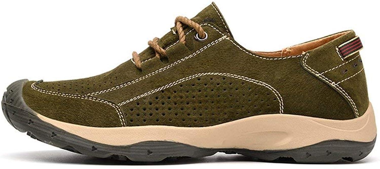 ZHRUI Man Sneakers Casual shoes Spring Autumn Platform Walking Outdoor Footwear Male (color   Hollow Green, Size   9.5=44 EU)