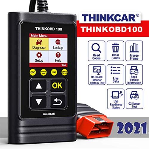 thinkcar OBD100 deutsch OBD2-Diagnosegerät für obd2 Fahrzeuge, Emission Fehlercode-Auslesegerät, 10 OBDII Funktion Diagnose für Benzin & Diesel