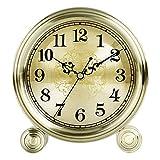 Relojes de Mesa silenciosos, Reloj de Escritorio de latón, Relojes de sobremesa con Personalidad, decoración Moderna del hogar, para Sala de Estar, Chimenea, Oficina, Reloj de Escritorio de