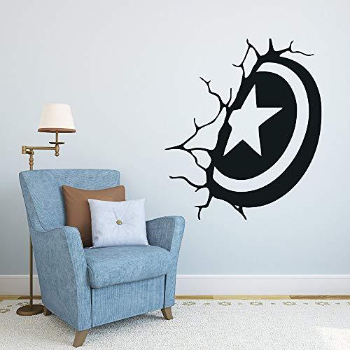 Tianpengyuanshuai Hero Captain Shield wandtattoo Hero Comic Art Home Decor wandtattoo elke ruimte