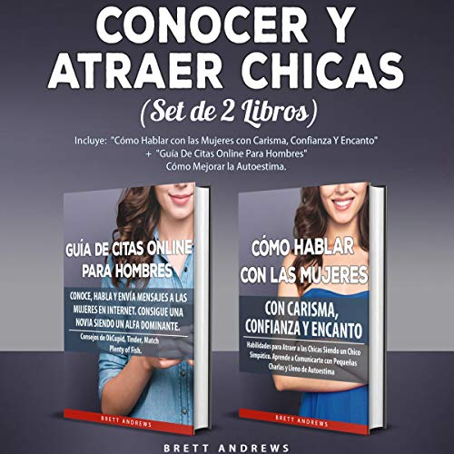 Conocer y Atraer Chicas (Set de 2 Libros) [Meet and Attract Girls (Set of 2 Books)] audiobook cover art