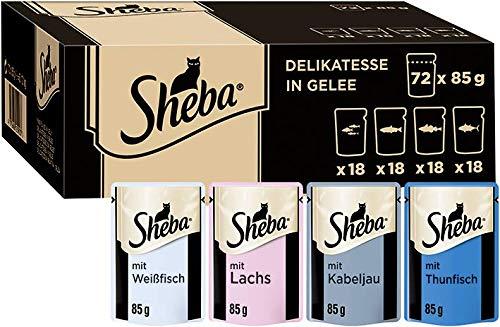 Sheba Delikatesse – Hochwertiges Katzen Nassfutter in 85g Portionbeutel, verschiedene Sorten