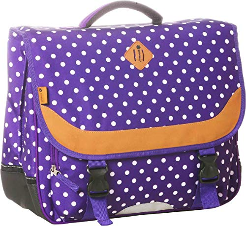 Cartable 41 cm Snowball Violet à pois