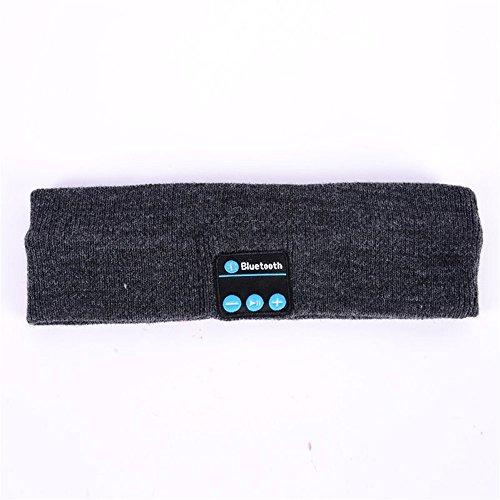 Lzcat Bluetooth Muziek Hoofdband Stereo Draadloze Headset Mens Womens Sport Hardlopen Fitness Yoga Stretch Hoofd Wrap Caps Perfect Geschenken, Grijs