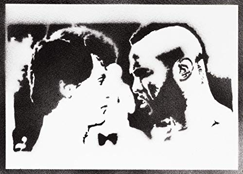 Rocky Balboa und Mister T Poster Plakat Handmade Graffiti Street Art - Artwork