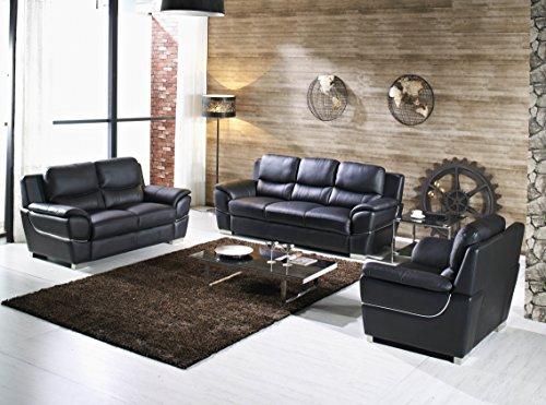 Design Voll-Leder-Sofa-Garnitur-Polstermöbel-Sessel 4572-3+2+1-S