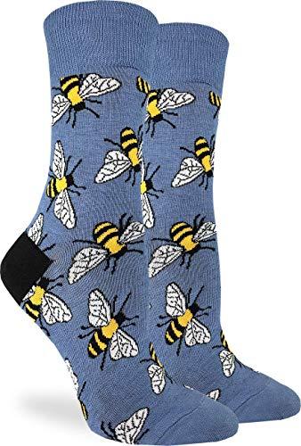 Women's Bees Socks - Blue, Adult Shoe Size 5-9