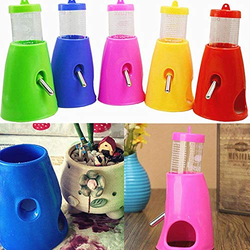 Hamster mice Water Bottle Nipple Holder Dispenser with base lodge for Rodent Cages