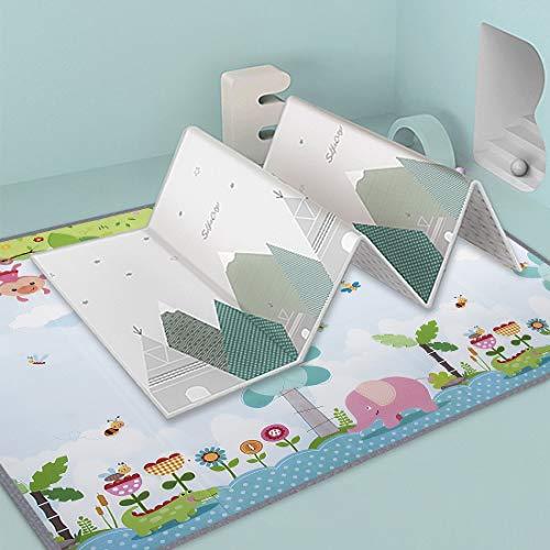 DXX Baby-krabbeldecke Yogamatte Große Baby Aktivität Spielen Matte rutschfest Wasserdicht Doppelseitig Spieldecke Baby 180 x 200 cm