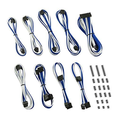 Cablemod Classic ModMesh Serie C Corsair - Kit cavi AXi, HXi & RM, colore: Bianco/Blu