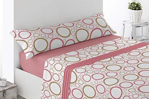 Regalitos TV Topitos Cady - Juego de cama de verano con dibujos, todas las camas con largo de 200cm, microfibra, sábana bajera, 1 funda de almohada y parte superior, microfibra, Rose, 150 x 200cm