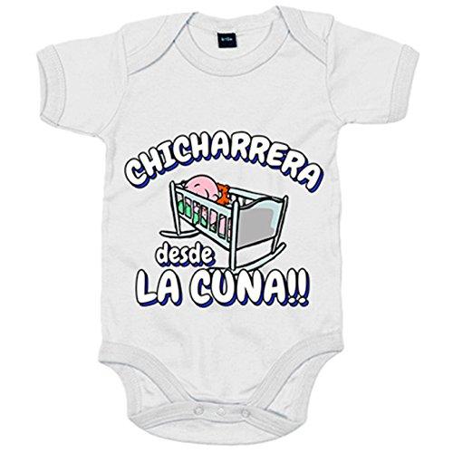 Body bebé Chicharrera desde la cuna Tenerife fútbol - Blanco, 12-18 meses