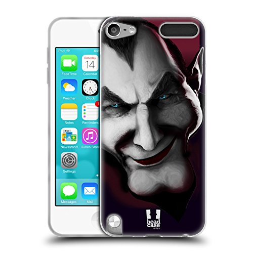 Head Hülle Designs Dracula Horror Classics Soft Gel Back Hülle Cover for Apple iPod Touch 5G 5th Gen