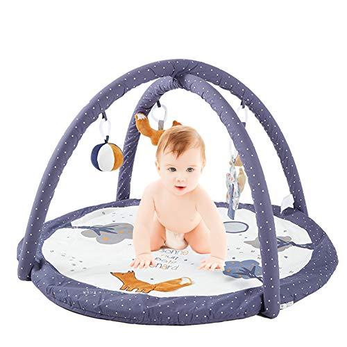 AJAMQ Gimnasio De Actividade, Manta Musical De Juegos para Bebés con Juguetes Extraíbles E Arco De Actividades para Bebés,