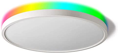 TALOYA Smart Ceiling Light Flush Mount LED WiFi, Compatible with Alexa Google Home, Dimmable Low Profile Ambient Light Fix...