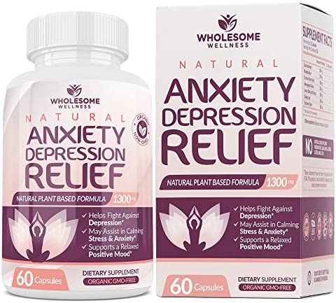 Happy Pills Natural Anti Anxiety Relief Depression Supplement Dopamine Mood Boost Serotonin product image