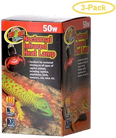 Zoo Med Nocturnal Infrared Same day shipping Max 75% OFF Heat Lamp Watts 50 3 - of Pack