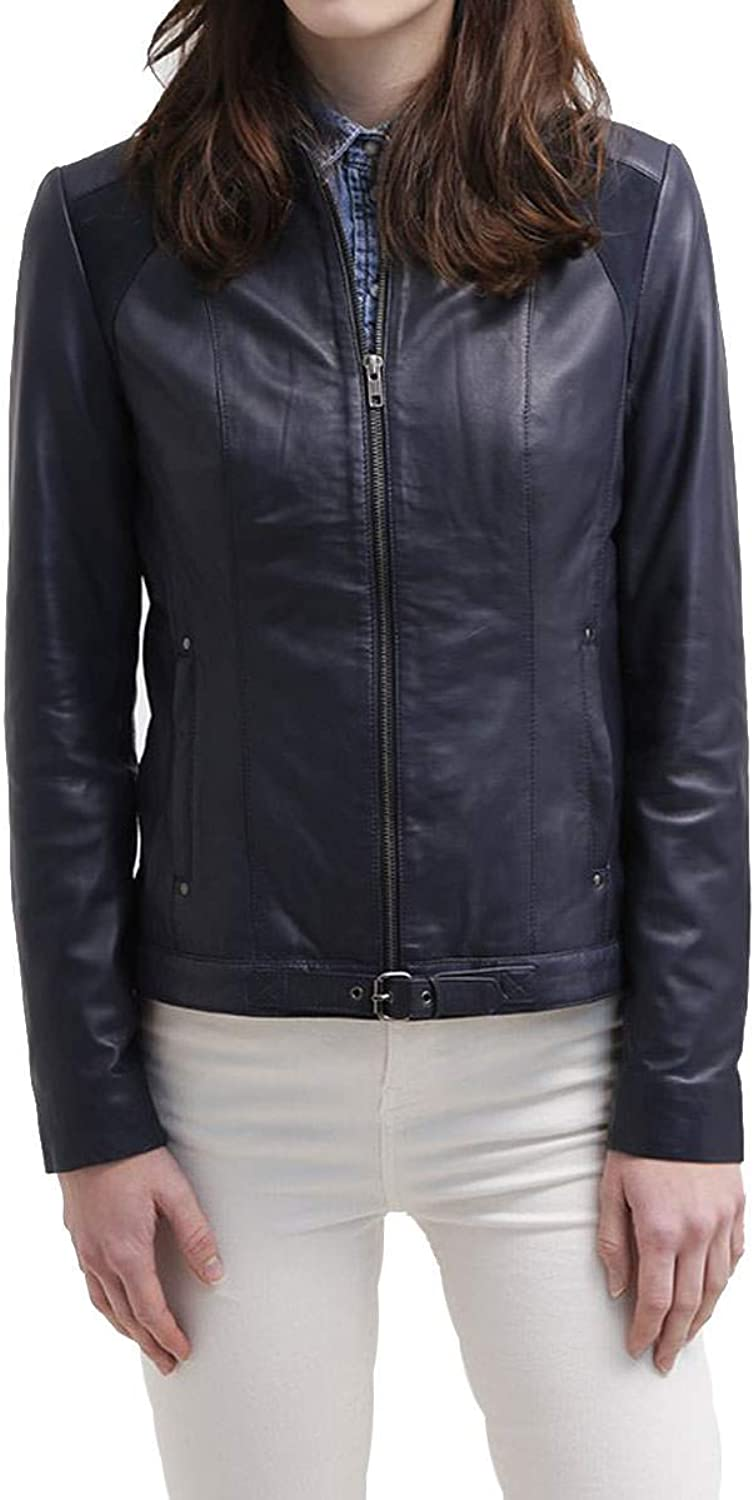 Women's Stylish Lambskin Genuine Leather Jacket WJ127