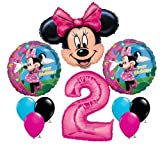 Minnie Mouse #2 2nd Second Happy Birthday Balloon Party Set Mylar Latex Disney by Anagram