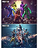 Material: Paper, Color: Multicolour These posters are without frame but it has two sided tape for pasting. Comes with plastic protection layer to avoid scratches during shipping and installation HD prints; Long Lasting; Non-Toxic Transform your gamer...