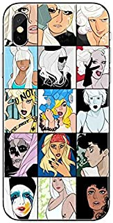 Inspired by Lady Gaga Phone Case Compatible With Iphone 7 XR 6s Plus 6 X 8 9 Cases XS Max Clear Iphones Cases TPU - Sleeve- Charm- Bluray- Accessories- Accessories- 33002710413