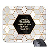 Mouse Pads Modern Gold Gray Marble Geometric Squares Non-Slip Rubber Gaming Mouse Mat Desk Accessories & Workspace Organizers