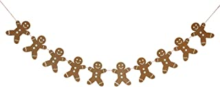 Move&Moving Wooden Gingerbread Man Christmas Garland Party Bunting Decoration, 2M