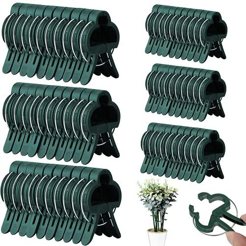 Lnmyic Pflanzenclips 60 Stück Pflanzenhalter Pflanzenklammern Gartengestaltung & Rankhilfen 2 Größe Pflanzen Clips Wiederverwendbar für...