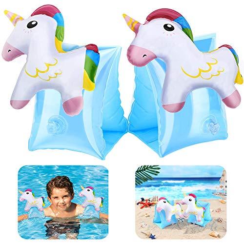 REYOK Gonfiabile Bracciale Braccio Unicorno Nuoto,Braccioli Bambini Gonfiabili aiuti Barca Bambini Maniche Gonfiabili Nuotata Cerchio Bracciale Giocattolo Piscina per Bambini Bambini Piccoli 2-8 Anni